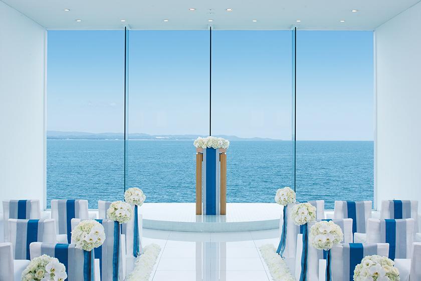 エシェル 別府湾を背景にしたチャペルのイメージ